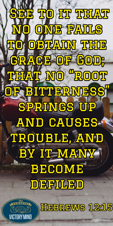 Grace of God - no root of bitterness
