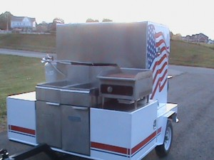 Food trailer better than a hot dog cart cooler than a concession trailer